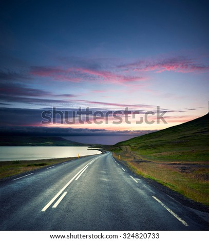 Road nature background with pure nature and nice sky. #324820733