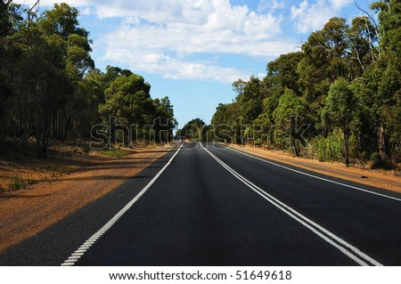 road passing through the bush - as a symbol of achievement