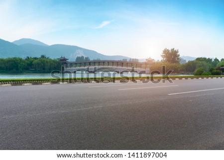 Road Pavement and Natural Landscape of Landscape #1411897004