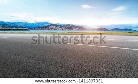 Road Pavement and Natural Landscape of Landscape #1411897031