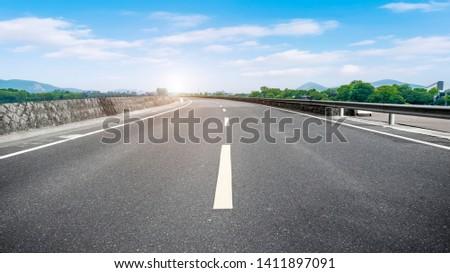 Road Pavement and Natural Landscape of Landscape #1411897091