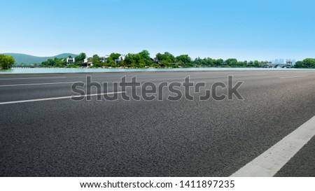 Road Pavement and Natural Landscape of Landscape