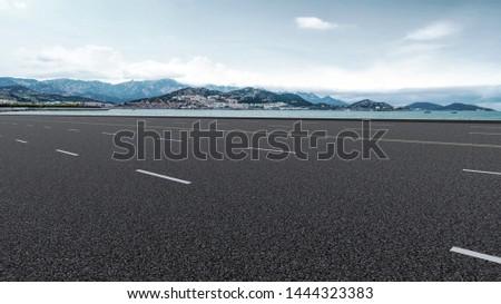 Road Pavement and Natural Landscape of Landscape #1444323383