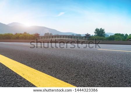 Road Pavement and Natural Landscape of Landscape #1444323386
