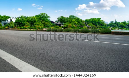 Road Pavement and Natural Landscape of Landscape #1444324169