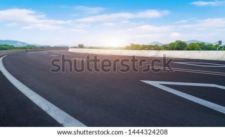 Road Pavement and Natural Landscape of Landscape #1444324208