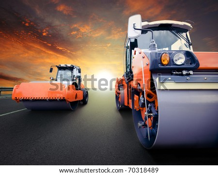 Road rollers for asphalt