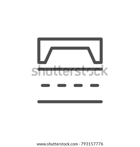Road scheme line icon isolated on white