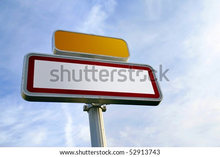 Road sign for message Photo stock ©