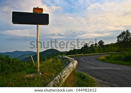 Road Sign in Mountains #144982612