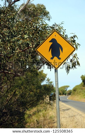 Road Sign in Tasmania. Australia