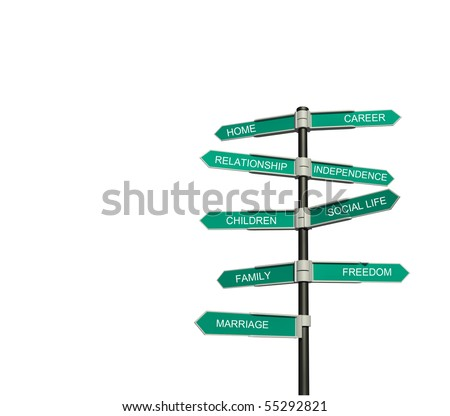 Road sign isolated on a white background. Concept.