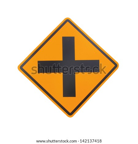 road sign on background,junction sign,intersection, crossroad.