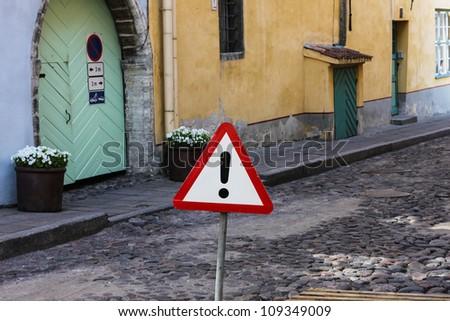 Road sign other danger