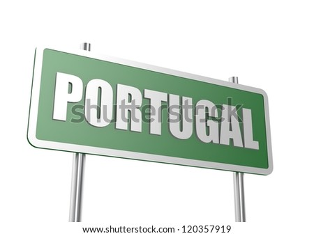Road sign Portugal