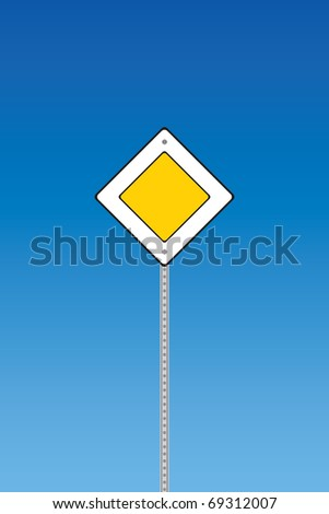 Road sign - priority