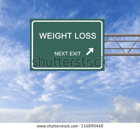 Road sign to weight loss
