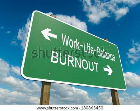 Road sign to work life balance