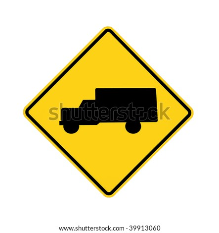 Cross Roads Sign Road Sign Trucks Crossing