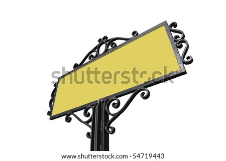 Road sign with clipping paths