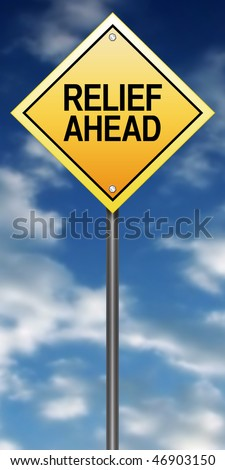 Road Sign with Relief Ahead