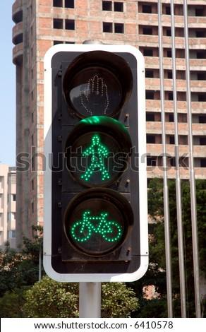 road signal in Chengdu, western of China