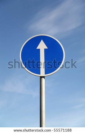 Road signs against the sky