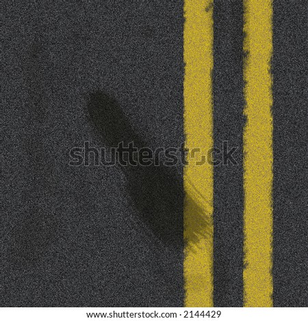 Road texture with rubber skid marks - stock photo