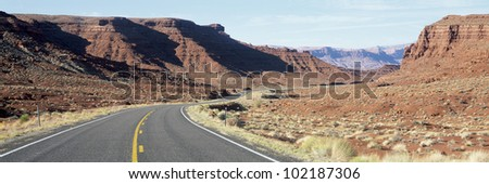 Road through desert, Utah