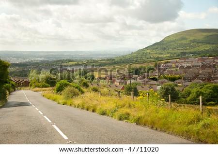 road through Northern Ireland countryside