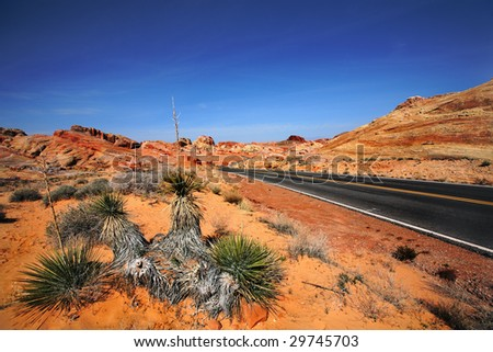 Road Through Valley Of Fire Nevada Stock Photo - Hot Girls