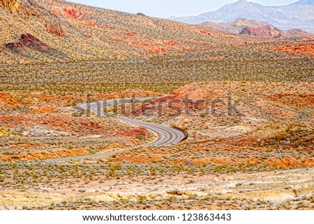 Road through Valley Of Fire