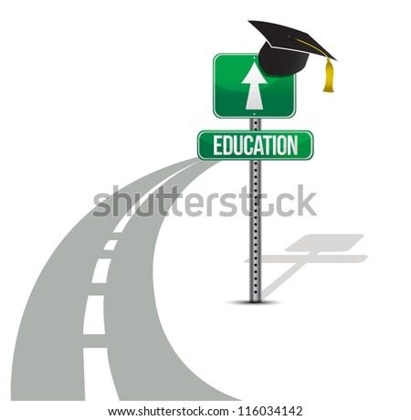 road to education illustration design over white background