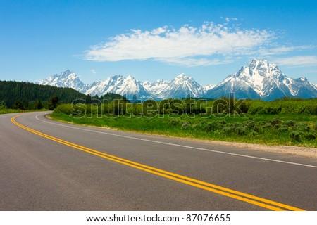 Road to Grand Teton National Park