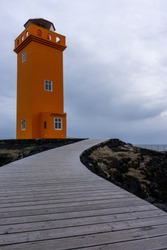 road to lighthouse in western Iceland