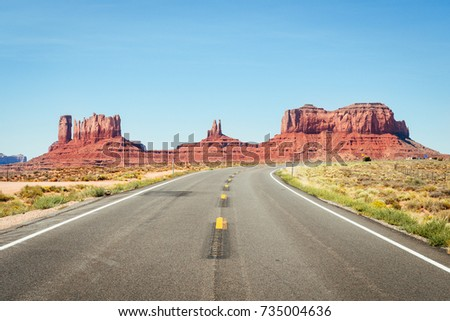 road to monument valley, arizona - Shutterstock ID 735004636