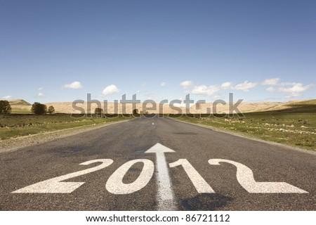 road to new year 2012 Сток-фото ©