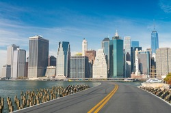 Road to New York City. Holiday and travel concept.