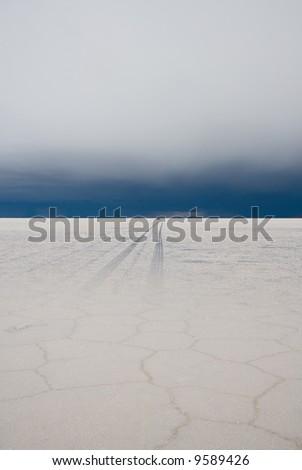 road to nowhere, salar de uyuni, bolivia