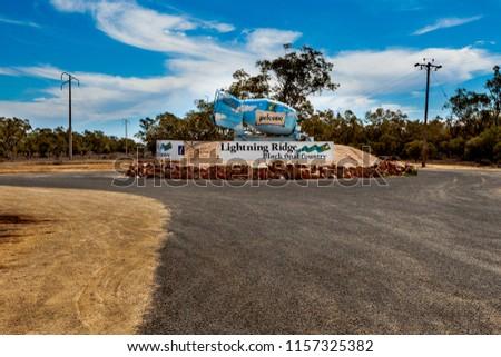 Road to opal country at Lightning Ridge, Australia. #1157325382