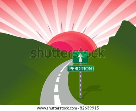 Road to perdition concept illustration design