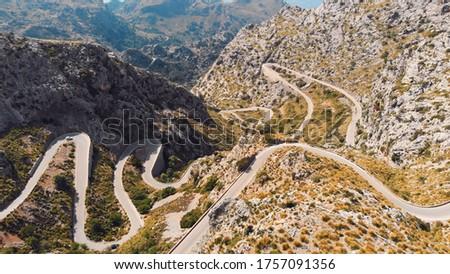 Road to Sa Calobra in Serra de Tramuntana - mountains in Mallorca, Spain. High quality photo Foto stock ©