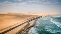 Road to Swakopmund, Skeleton Coast, Namibia, Africa