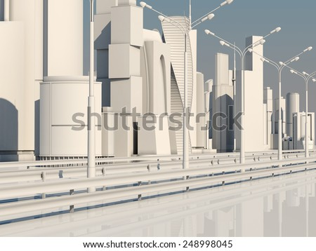 Road to the metropolis. City of the Future.
