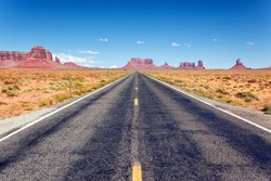 Road to the Monument Valley, Arizona