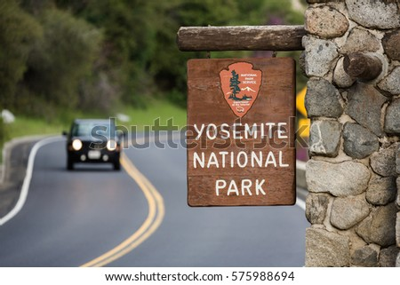 Road to The Yosemite National Park