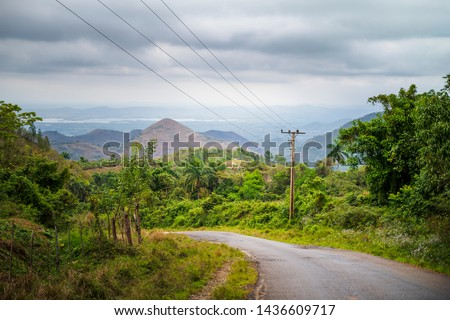 Road to Trinidad, Cuba, West Indies, Caribbean Central America stock photo