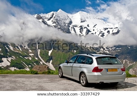 Road travel in Alps Austria