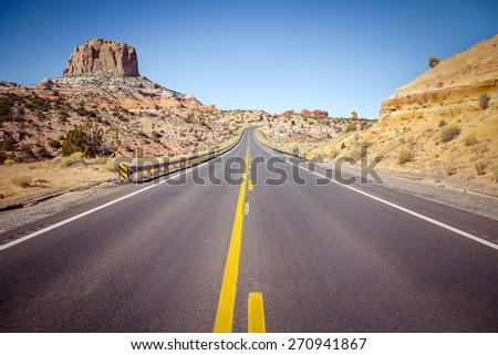road trip in arizona desert  usa