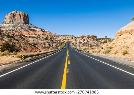 Road trip in Arizona desert, USA #270941885